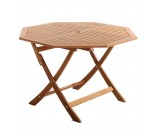 Table Teck Octogonale